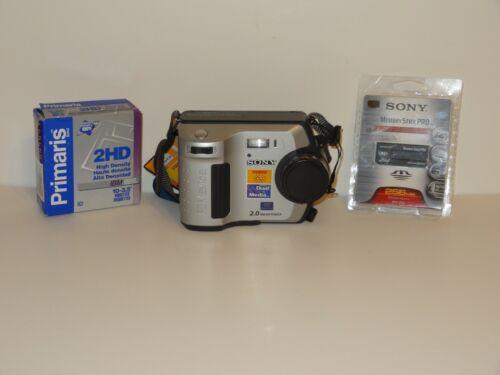 Sony Mavica MVC-FD200 2.0MP Digital Camera w/ Memory Stick & Diskettes