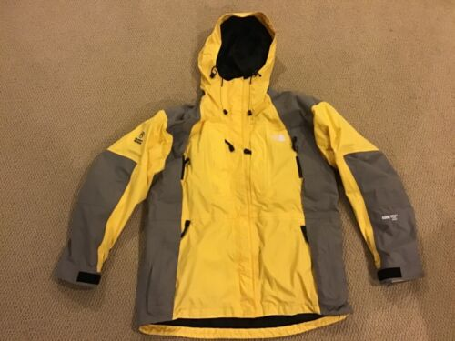 Yellow Zip Up Hooded Summit Series Ski Coat Gore-Tex Size L BY THE NORTH FACE