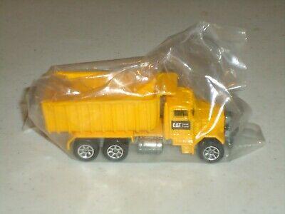 Hot Wheels CAT Caterpillar Yellow Peterbilt Dump Truck PACKAGED ORIGINAL PROMO