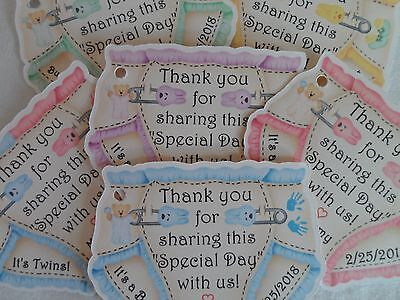 UNIQUE PERSONALIZED DIAPER THEME BABY SHOWER PARTY FAVOR GIFT TAGS, CANDY TAGS](Baby Shower Party Theme)
