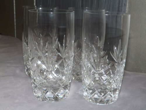 Set of 4 Lenox Crystal Charleston Highball Glasses