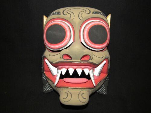 Indonesian Bali Hindu Handmade Carved Wood Barong Wearable Topeng Theater Mask