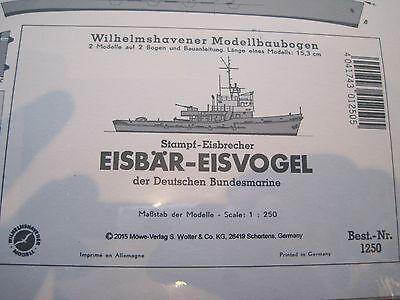 Eisbär Eisvogel Wilhelmshavener Modellbaubogen Bastelbogen Kartonmodell