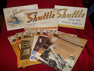 """Lot of """"The Shuttle"""" newsletters 1942 to 1948 Maysville Guild of Home Weavers"""