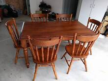 Wooden table with 6 chairs-Endeavor furniture collection Whitebridge Lake Macquarie Area Preview
