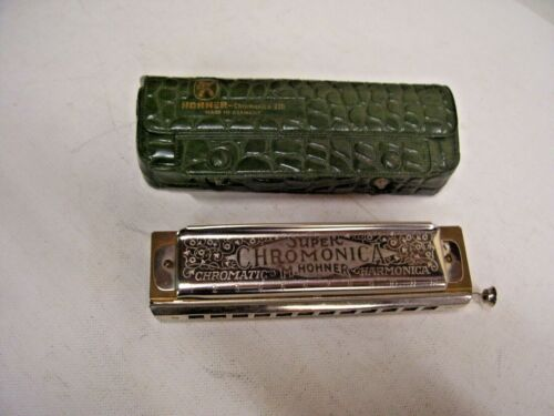 "M. HOHNER ""THE SUPER CHROMONICA"" MODEL 270 CHROMATIC HARMONICA IN ""C"" & CASE"