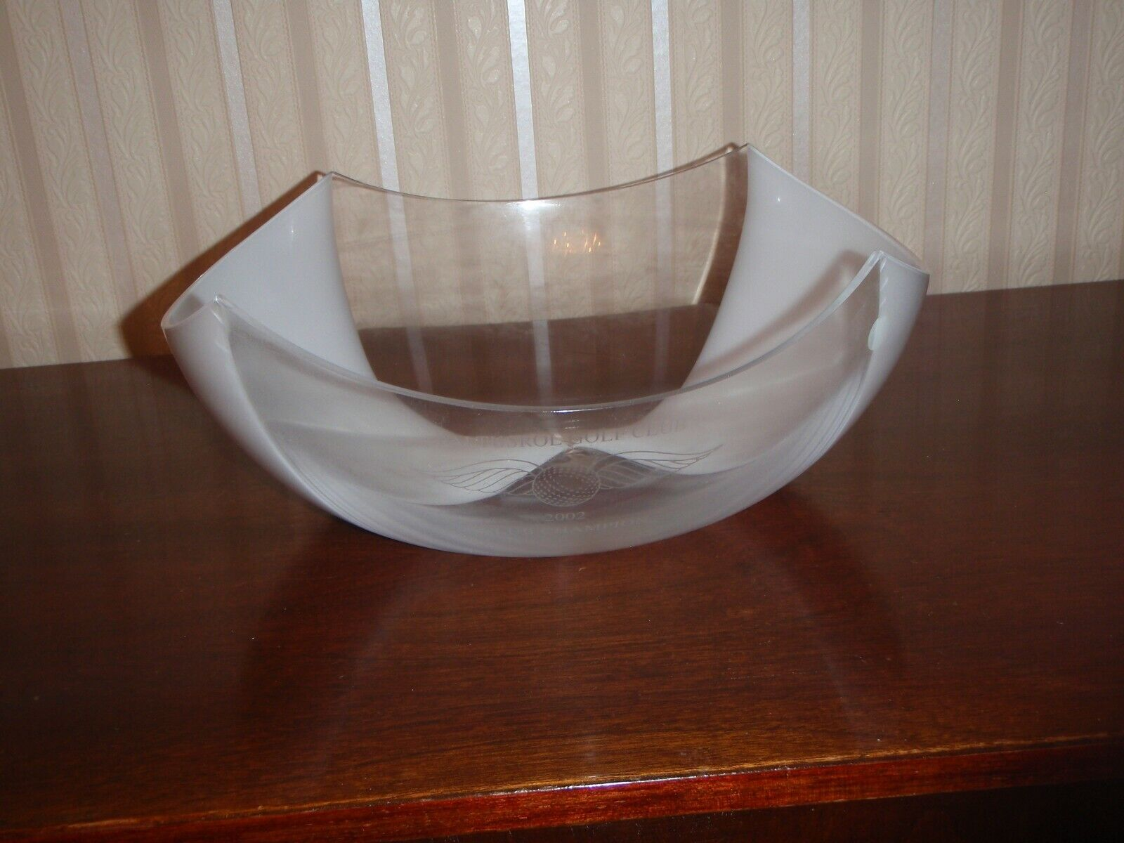 Murano Glass Bowl By Salviati For Tiffany Co. Engraved - $125.00