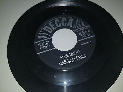 "LEROY ANDERSON Belle Of The Ball / Blue Tango DECCA 27875 45 VINYL 7"" RECORD"