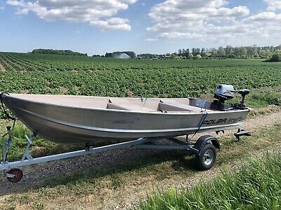 Polar Kraft 12ft 6 Aluminium Fast Fisher/Fishing/Day Boat Package
