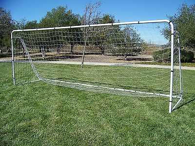 18.5 x 6.5 Ft. Official Youth Size Steel Soccer Goal. Heavy Duty Frame w/Net.