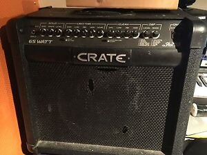 Crate glx65 watt combo amp with foot switch