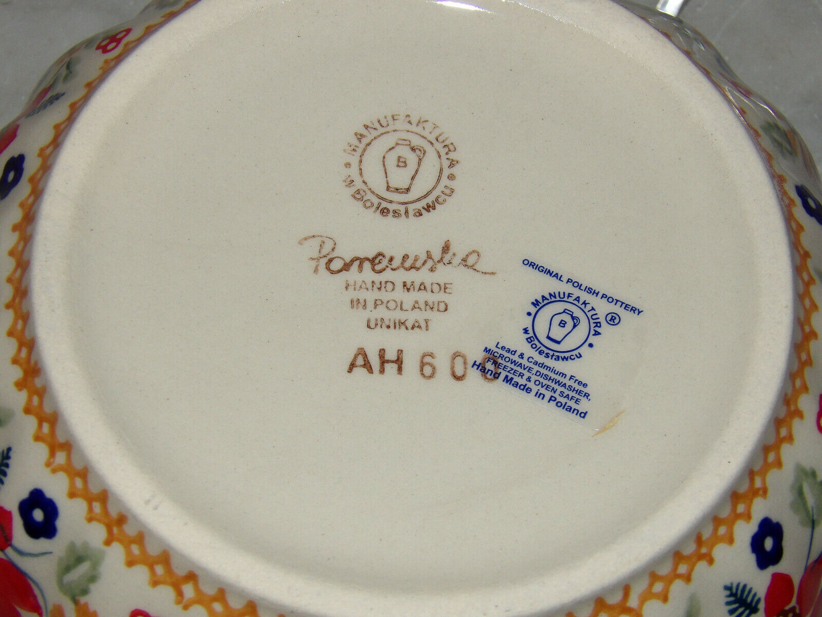 Polish Pottery Chip and Dip RelishTray /& Bowl UNIKAT Signature Rembrandt!