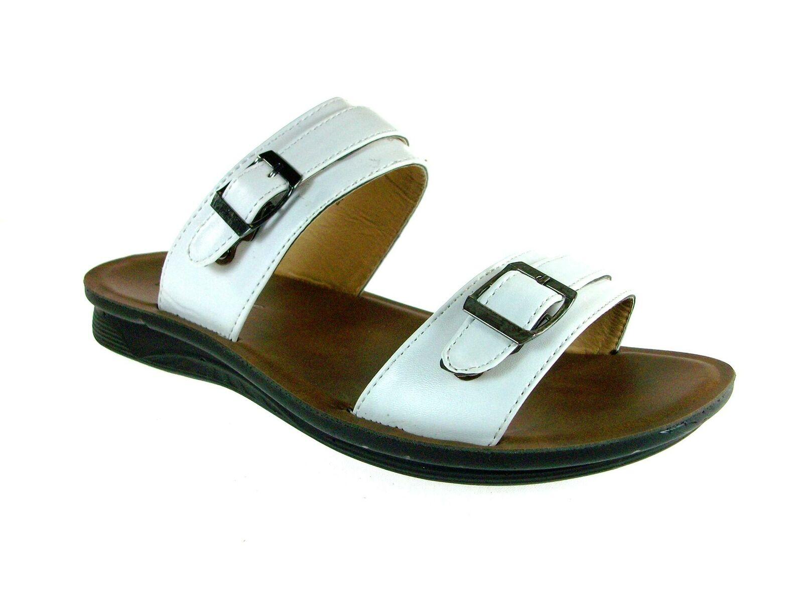 Men's 28523 Double Buckle Easy Slip On Roman Fashion Sandals