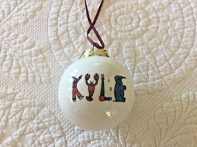 Porcelain Personalized KYLE Christmas Ornament By Lynn Morris