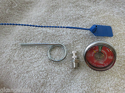 1-100# psi Pressure Gauge-Air Chuck-Pin & Seal Water Pressure Fire Extinguisher