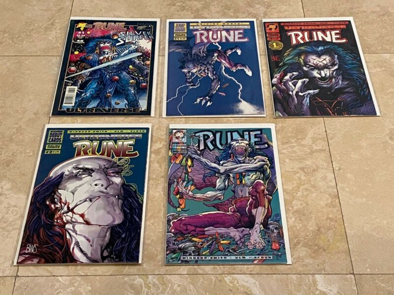 Ultraverse BWS RUNE # 0 & 1-5 + Ashcan + Silver Surfer + Poster + Promo Card NM!