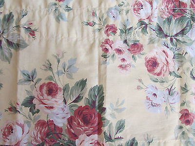 Gorgeous Martha Stewart Shabby Pink Roses Window Valance French Cottage Chic VGC