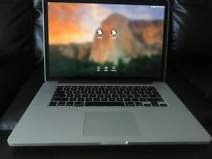 MacBook Pro Retina 15 Inch 2.8GHz 1 TB  SSD PCIe drive 16GB