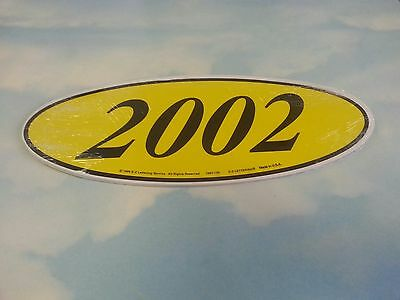 ~CAR DEALER 1 doz BOLD OVAL 2 DIGIT 2003 YEAR MODEL WINDOW STICKER G//B