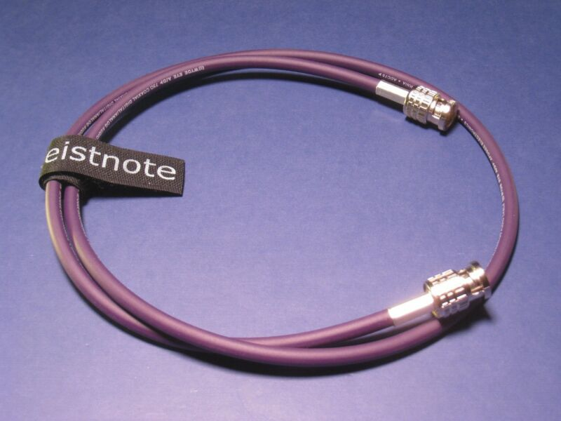 3 ft Purple Apogee Wyde Eye Cable. 75Ω BNC Canare Connectors Word Clock GN-WE-BB
