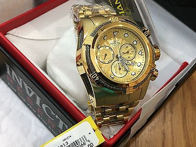 23913 Invicta Reserve 52mm Bolt Zeus Swiss Parts Chronograph Gold-Plated Watch
