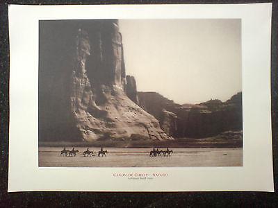 edward sheriff curtis print,canon de chelly, navaho,size 17x12 inches,v.g.c.