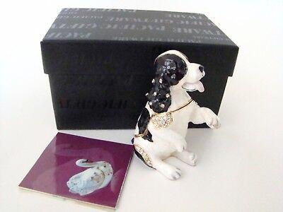 Jeweled Trinket Hinged Box - Black & White Cocker Spaniel