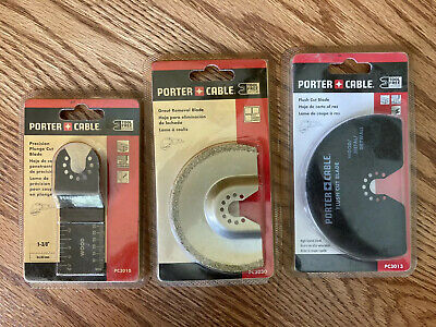 Porter Cable Oscillating Tool Blade Bundle Pc3010 Pc3030 Pc3013 New