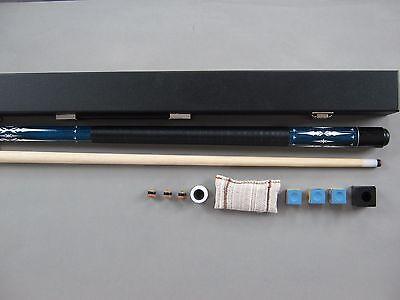 "Billard-Queue ""Ambassador DE LUXE blue"" Koffer + Zubehör, Cue, Kö,"