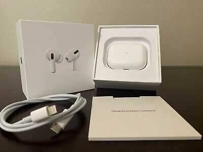 New Sealed Box Genuine OEM Original Apple AirPods Pro w/ Wireless Charging Case