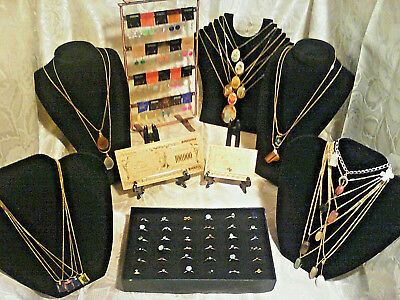 70+Pc.MIXED JEWELRY~LOT! RINGS/Earrings/GEMSTONES&MIXED Necklaces/GOLD$100&MORE