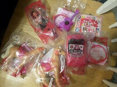 McDonalds Happy Meal - Lot 7 Barbie - Life in the Dreamhouse - Horse - Car - new