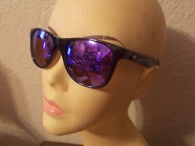 MORMAII Lances 422 550 92 Transparent Blue Frame Purple Mirror Lenses Sunglasses