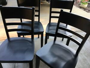 NEW BLACK WOOD CHAIRS