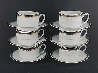 Christopher Stuart UNIVERSITY BLACK Cup & Saucer 2 3/8
