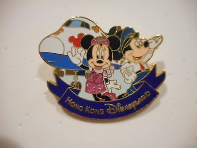 Mickey Mouse & Minnie Mouse Hong Kong Disneyland Glitter Disney Pin