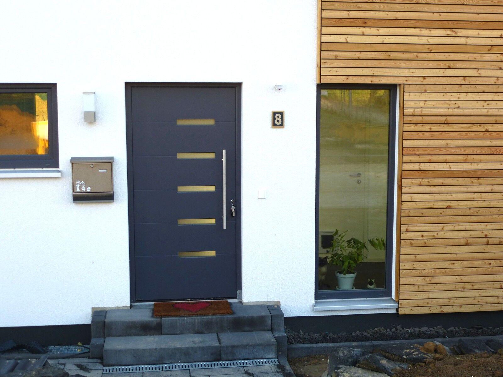hausnummer edelstahl anthrazit ral 7016 design verona v2a 1 stellig 1 9 eur 54 95 picclick de. Black Bedroom Furniture Sets. Home Design Ideas
