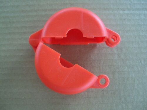"V-Safe Gate Valve Lockout - Valve Wheel Diameter Range Up to 2.5"" - Red"