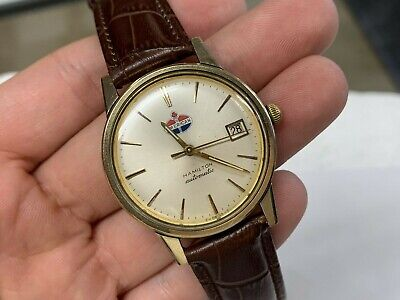 Vintage Hamilton American Oil Logo 10K Rolled Gold 17J Automatic Watch