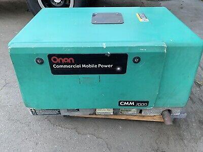 Cummins Onan 7000 Watt Generator 120240 Volt Commerical 7hgjae-1912b Gasoline