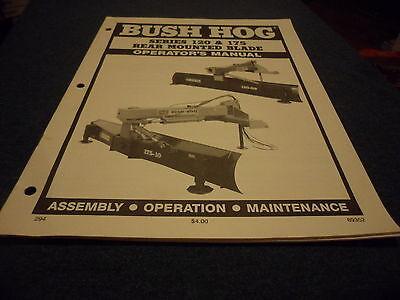 Drawer 5 Bush Hog 120 175 Rear Mounted Blade Operators Manual Assem Maint.