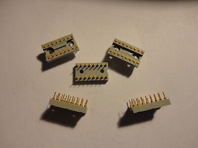 5pcs Augat 516ag33d 16pin Machined Pin Dip I.c. Socket