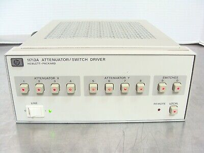 Hp Agilent Keysight 11713a Attenuator Switch Driver Fully Tested Guaranteed