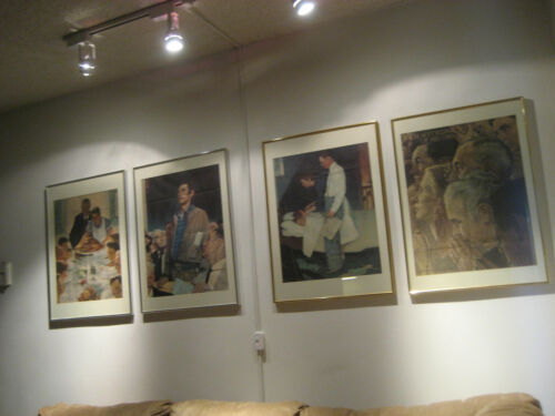 Rockwell Framed WW2 Four Freedoms Poster Set Issued