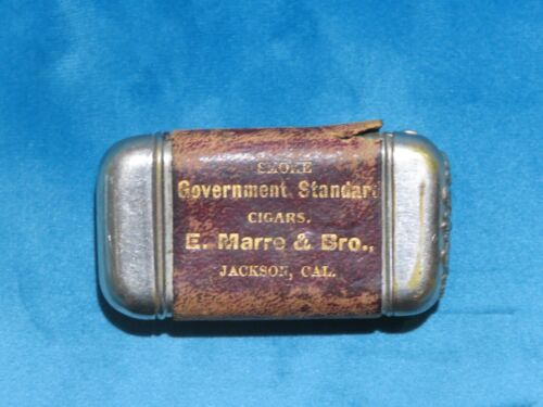 1907 Jackson California E  Marre &Bro  Cigars Gold Mining Ghost Town Match Safe
