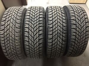 215/60R16 winter tires like new on rims