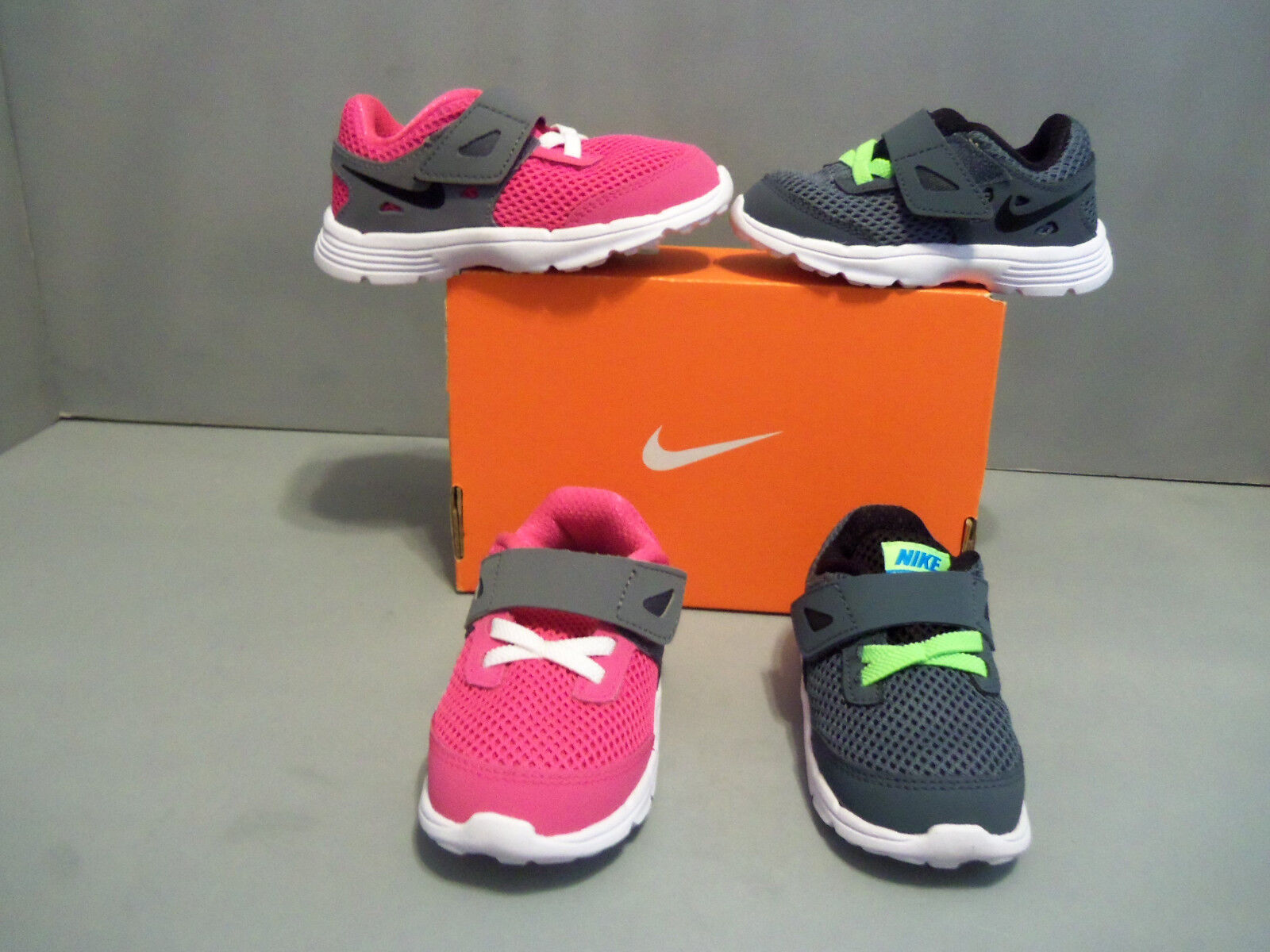 NIKE Dual Fusion Lite Infant Toddler colors 5992 sizes New NIB Hook and Loop