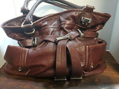 B makowsky large leather handbag black