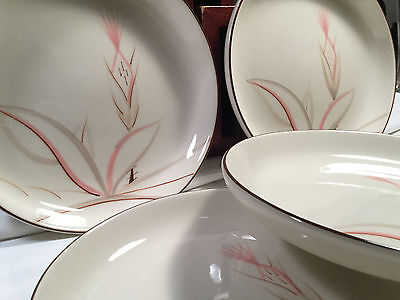 Vintage WINFIELD DRAGON FLOWER Hand Crafted Porcelain ~Six ( 6 ) Salad Plates