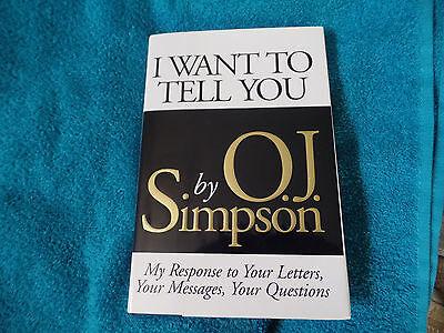 HOF'er Buffalo Bills OJ Simpson autographed hard cover book  JSA (Oj Simpson Autograph)